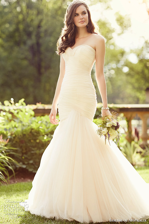 Essense of australia 2015 wedding dresses wedding inspirasi for Sweetheart neckline ruched bodice wedding dress
