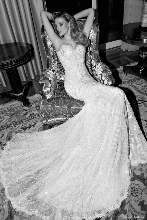 galia lahav 2015 tales of jazz age 2 audrey wedding dress illusion front view sitting position