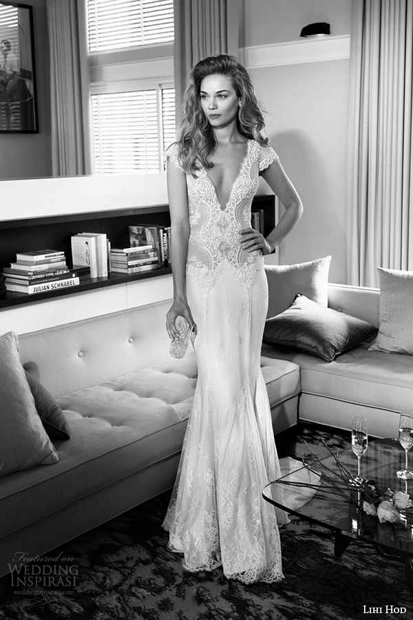 Lihi hod 2015 wedding dresses film noir in white bridal for Lihi hod wedding dress