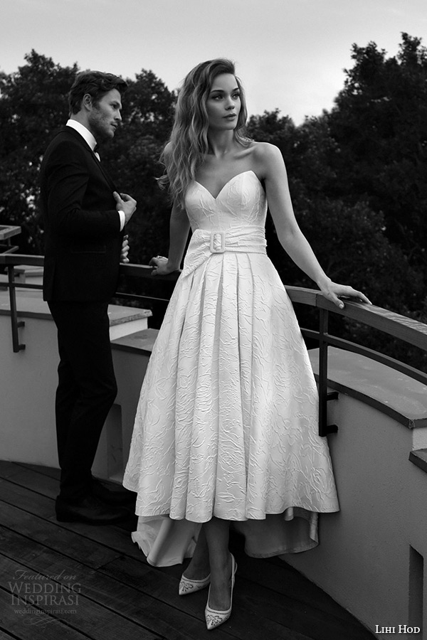 lihi hod wedding dresses 2015 bridal gown strapless sweetheart neckline hi long aline dress style blanca