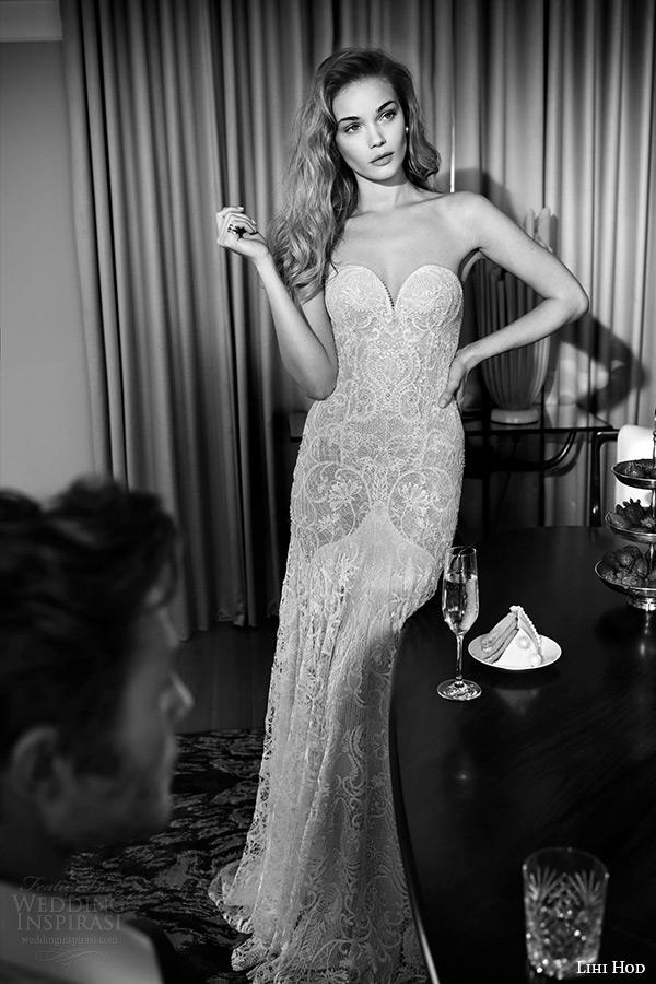 lihi hod wedding dresses 2015 bridal strapless deep sweetheart neckline full lace sheath wedding dress style antique violet