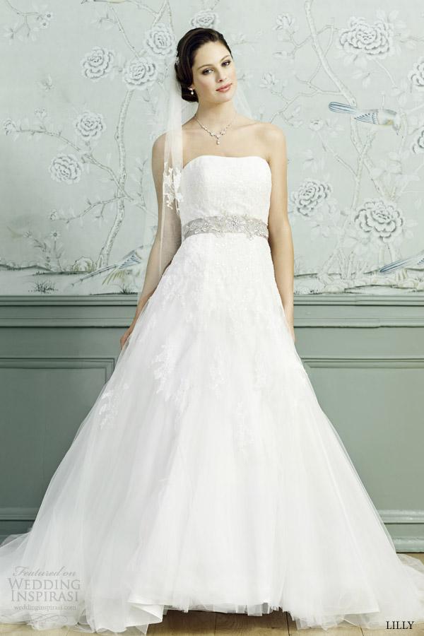 lilly bridal 2015 wedding dress strapless full aline ball gown 08 3530 cr