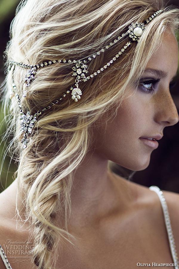 olivia headpieces 2015 w label wedding bridal swarovski crystal pearl halo headband bohemian style winter