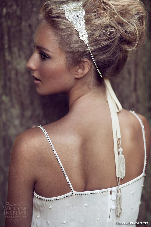 olivia headpieces 2015 wedding bridal headband art deco swarovski crystals tassels style wellington