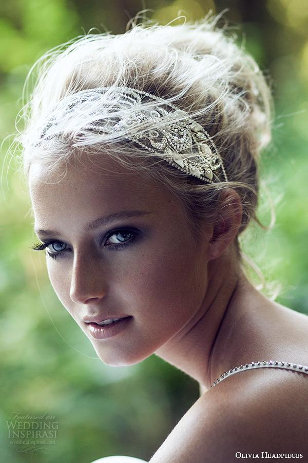 olivia headpieces 2015 wedding bridal headband ivory swarovski crystal chain style water