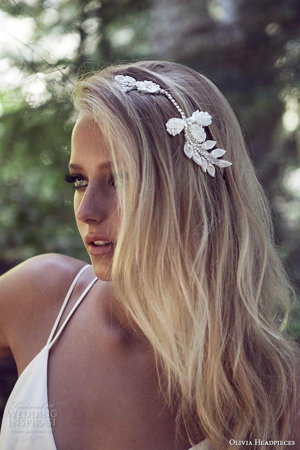 olivia headpieces 2015 wedding bridal headband siliver ivory gold swarovski crystal style wallflower