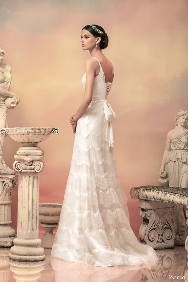 papilio bridal 2015 apollonia sleeveless sequin a line wedding dress beaded straps back view
