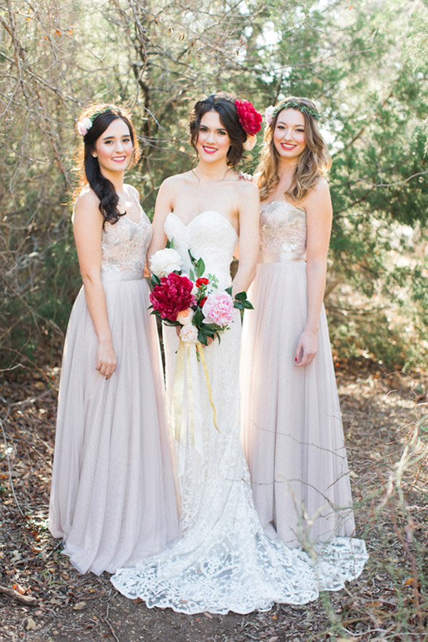 watters brides 2015 wedding dress bridesmaids gown brescia lucca allen tsai photography valentines photo shoot sarah keestone giant red peony oversized peonies