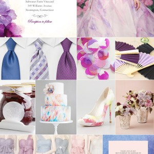 wedding paper divas watercolor wedding inspiration board cobalt blue fuchsia red raspberry pink fuchsia color palette