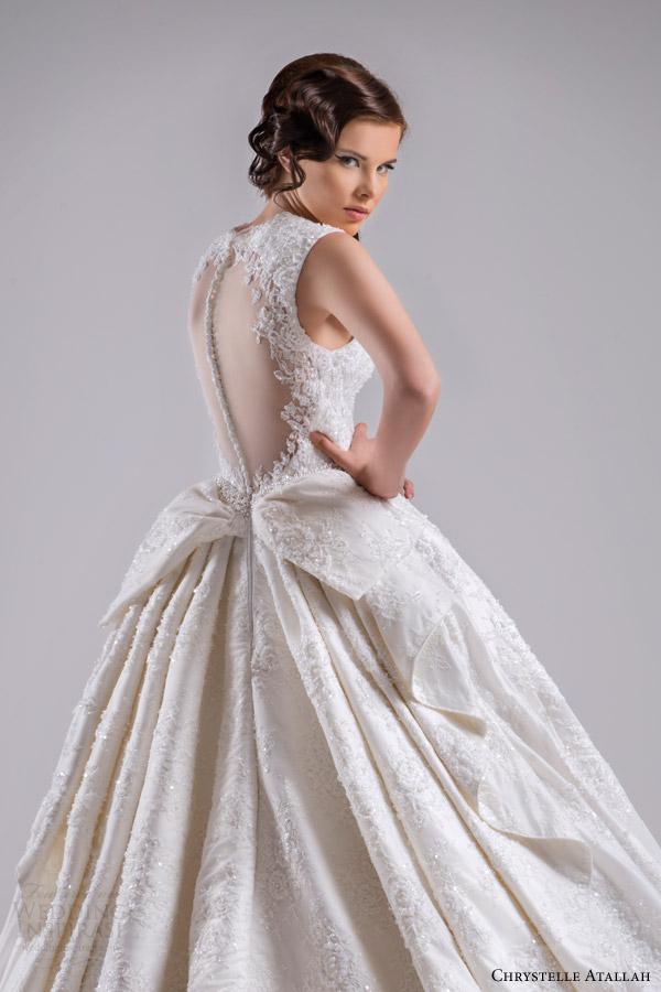 Chrystelle atallah spring 2015 wedding dresses jeanette for Wedding dress with back detail