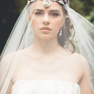 edera bridal jewelry wedding accessories necklace halo silver lace head piece acanthus with veil