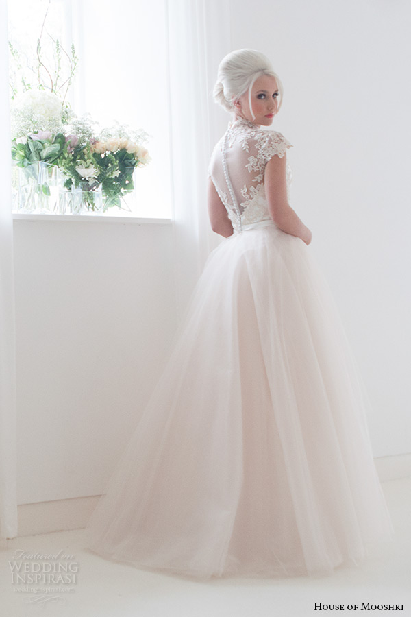 Champagne Lace and Tulle Wedding Dresses