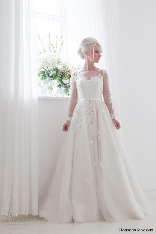 House of mooshki 2016 wedding dresses wedding inspirasi for Illusion sweetheart neckline wedding dress