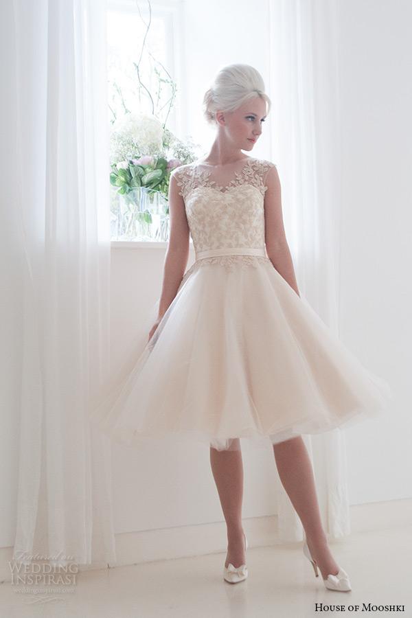 House of mooshki 2016 wedding dresses wedding inspirasi for Short champagne wedding dress