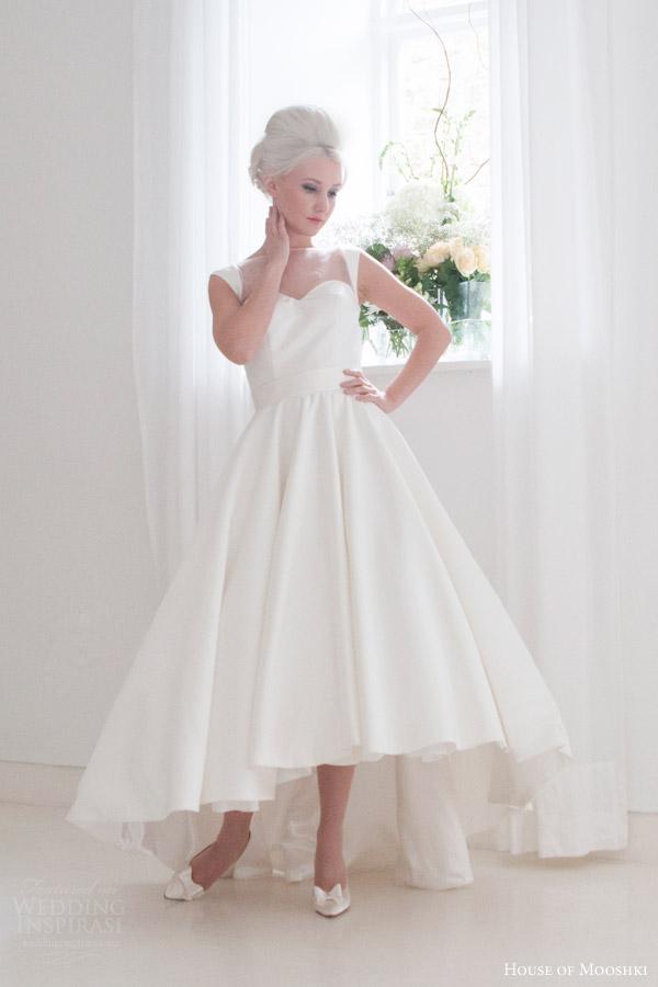 house of mooshki bridal 2015 tessa high low satin gown full ball gown skirt