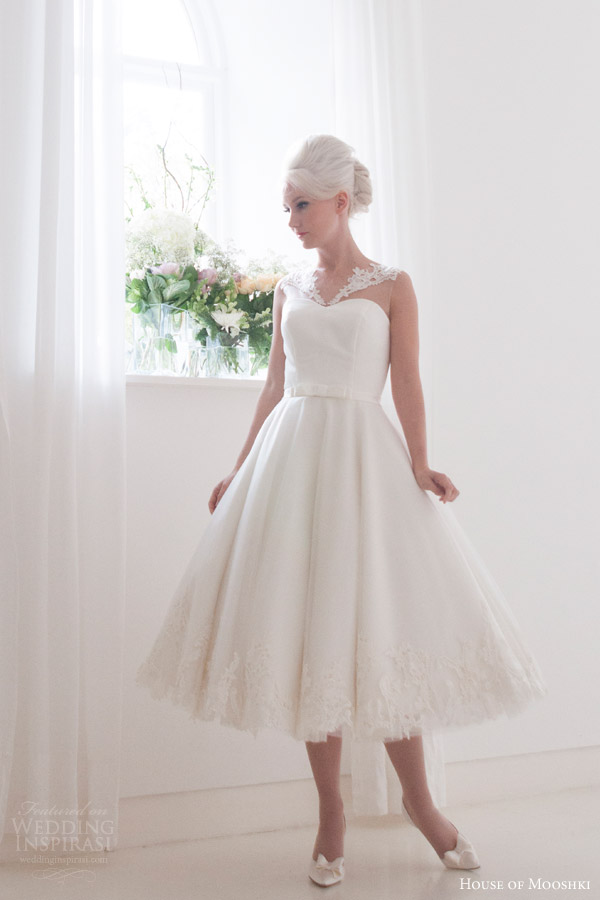Calf length wedding dresses discount wedding dresses for Calf length wedding dresses