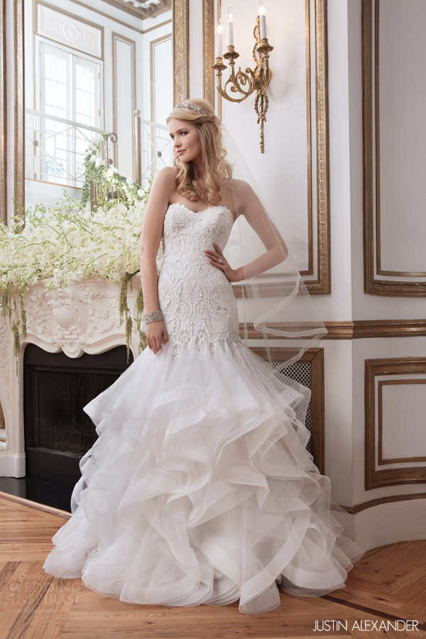 Mermaid Wedding Dress with Godets