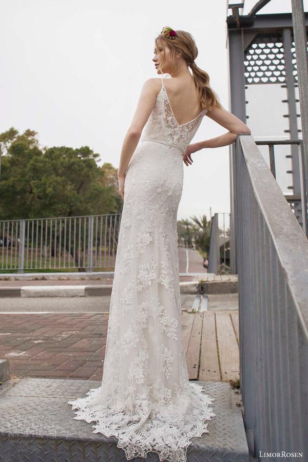 Limor rosen 2015 norma sleeveless beaded sheath blouson for Art deco wedding dresses