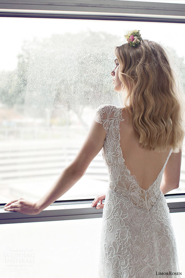 Limorrosen 2015 wedding dresses wedding inspirasi for Cap sleeve sheath wedding dress