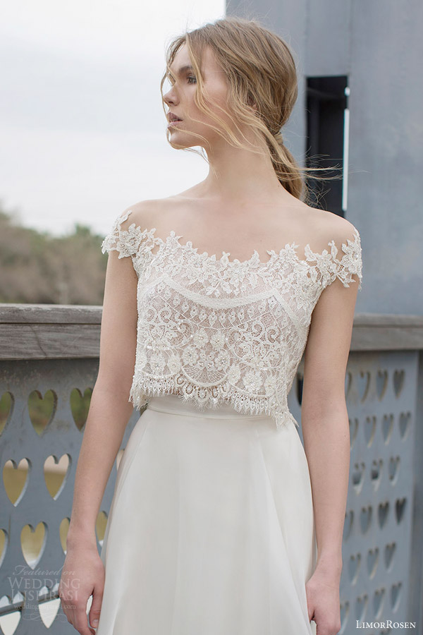Limor Rosen Bridal 2015 Diana Two Piece Wedding Dress Crop