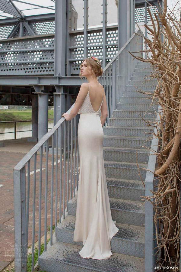 limor rosen bridal 2015 evelyn sleeveless blouson wedding dress ...