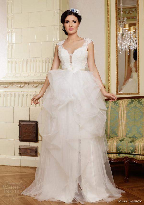 Maya fashion 2015 wedding dresses royal bridal for Romanian wedding dress designer
