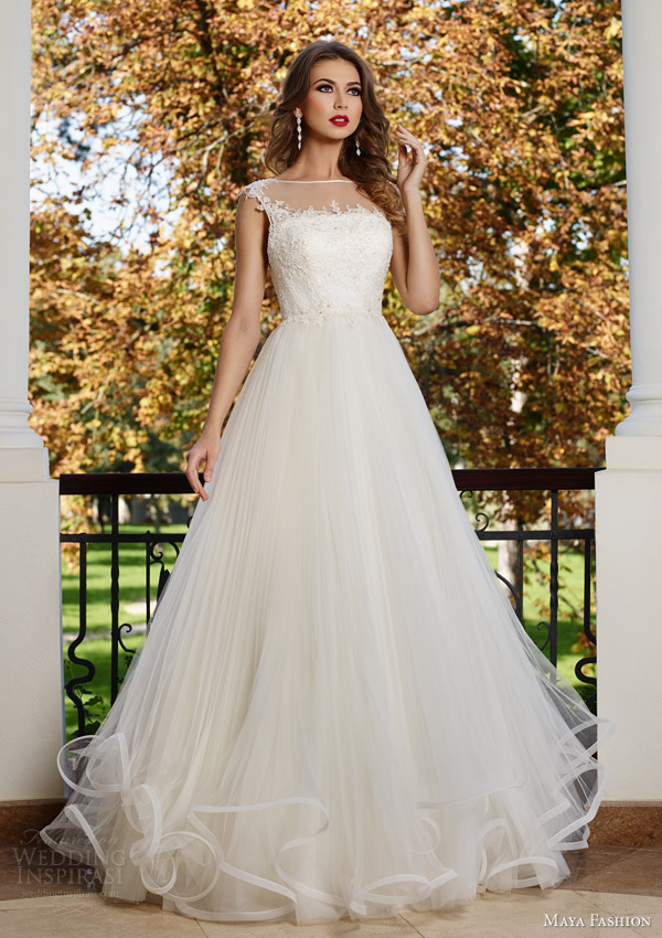 Floor Length Wedding Dresses 19 Simple maya fashion royal bridal