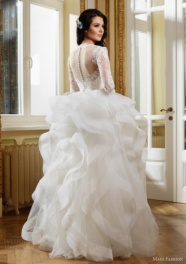 Ruffled Wedding Gowns 2 Epic maya fashion royal bridal