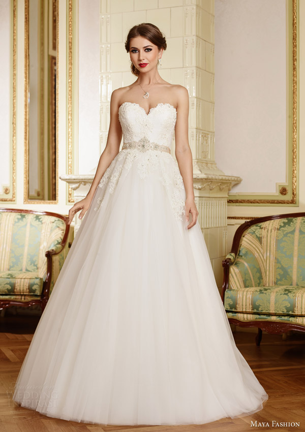 Lace Strapless Wedding Dresses 97 Marvelous maya fashion bridal royal