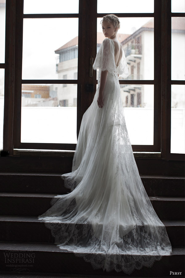 Vintage Open Back Wedding Dresses 3 Spectacular persy bridal spring half