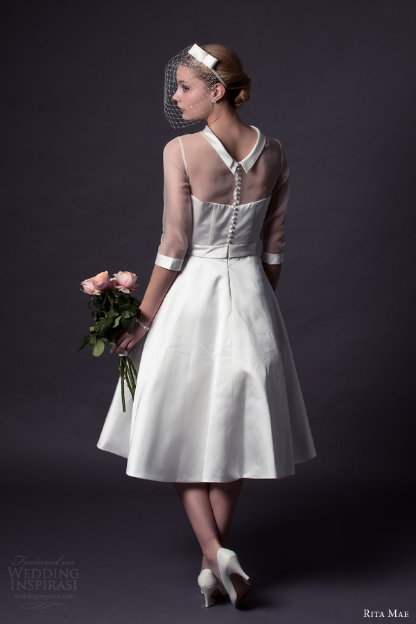 Short Tea Length Wedding Dresses 48 Trend rita mae by alan