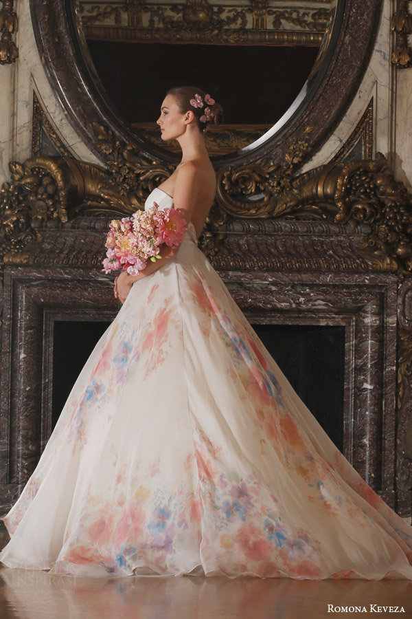 Floral Organza Wedding Dress