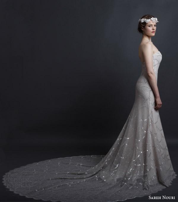 Black Lace Wedding Dresses 20 Spectacular sareh nouri spring bridal