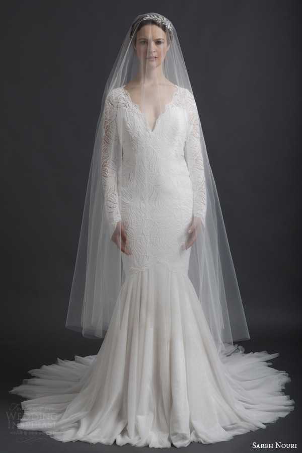 Sareh nouri bridal spring 2016 wedding dresses wedding for Long veil wedding dresses