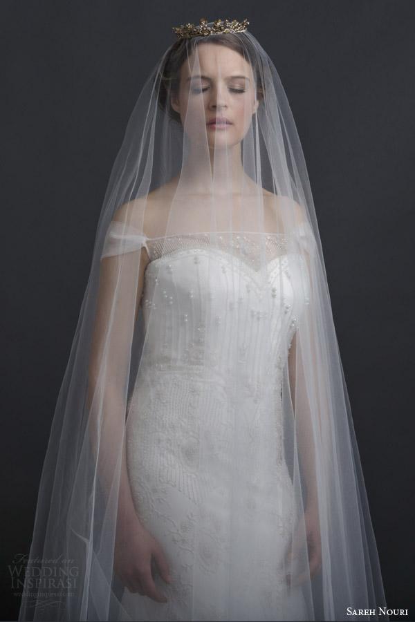 Veil For Wedding Dress 62 Simple sareh nouri spring bridal