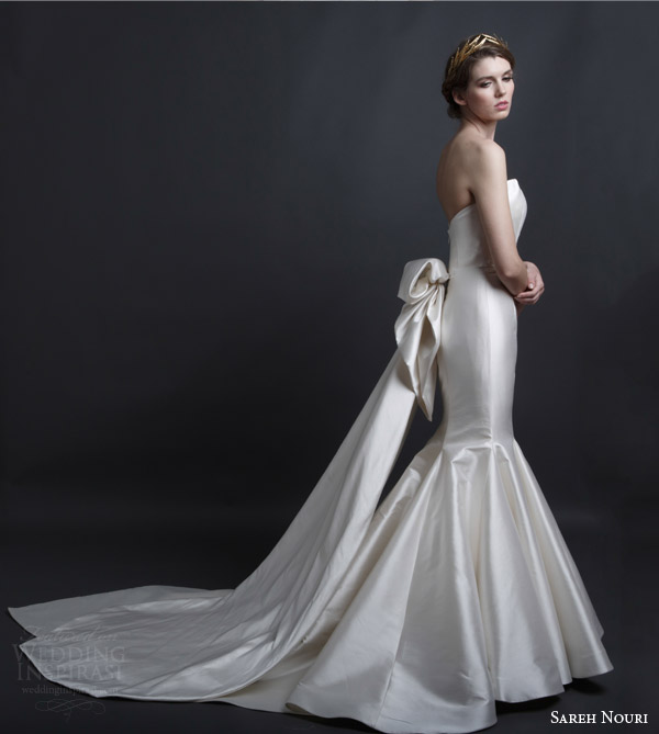 Bridal Dress With Detachable Train: Sareh Nouri Bridal Spring 2016 Wedding Dresses