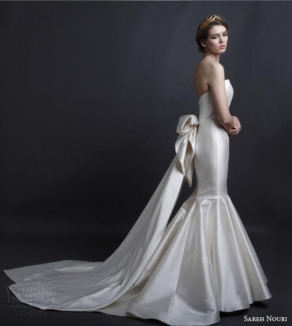Sareh nouri bridal spring 2016 wedding dresses wedding for Mermaid wedding dress with detachable train