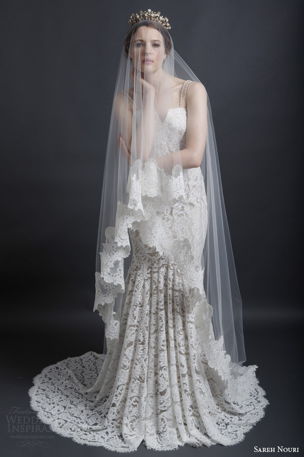 Lace Wedding Dress And Veil : Sareh nouri bridal spring wedding dresses