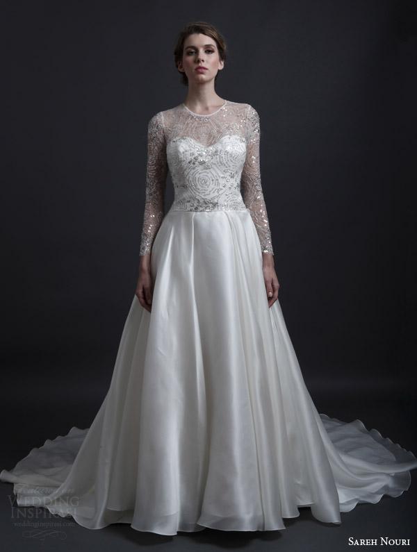 White And Navy Wedding Dress 4 Beautiful sareh nouri spring bridal