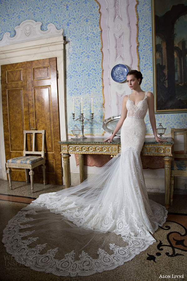 Alon livne white 2015 bridal couture collection wedding for Heart shaped mermaid wedding dresses