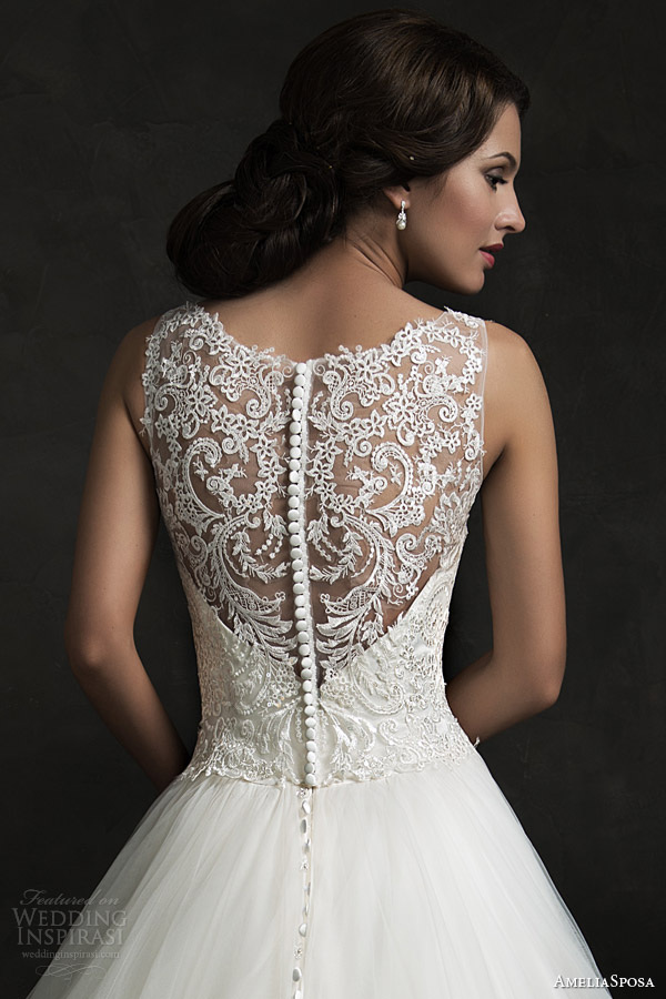 Ameliasposa 2015 wedding dresses wedding inspirasi for Wedding dress illusion back