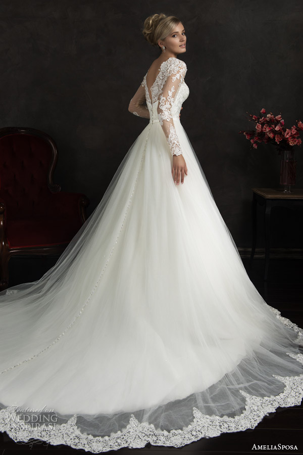 White Ball Gown Wedding Dress