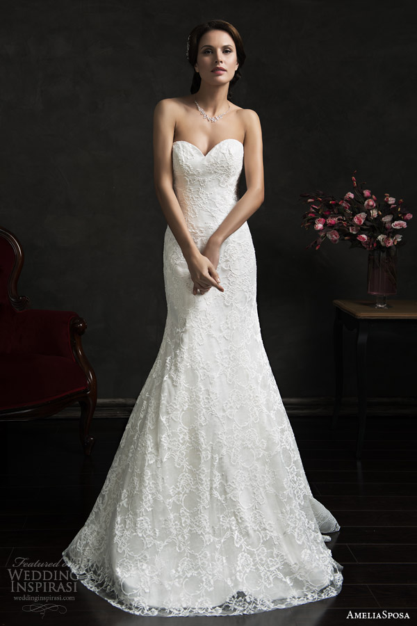 amelia sposa 2015 bridal teofila strapless wedding dress illusion