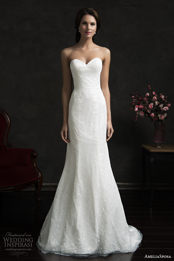 amelia sposa 2015 bridal tereza strapless sweetheart wedding dress