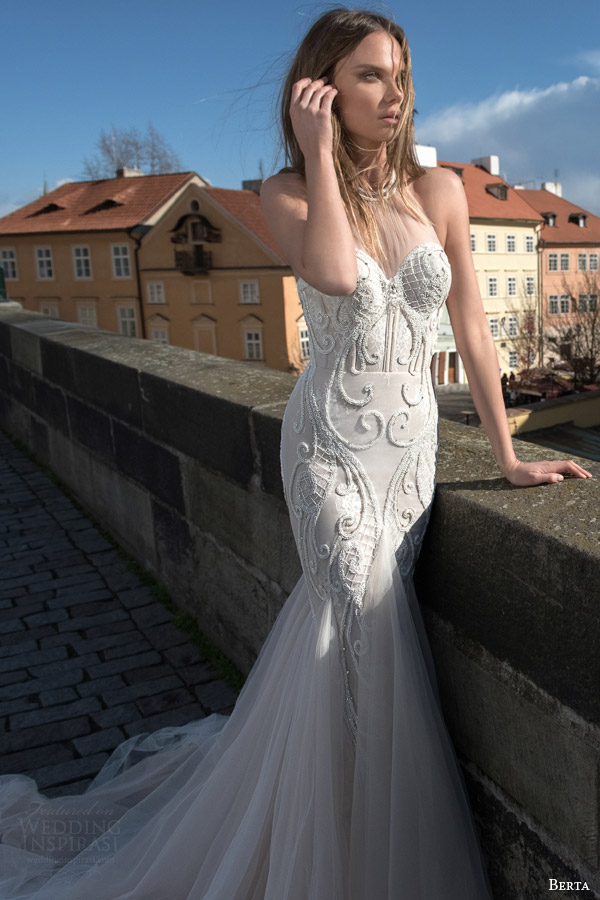 Berta bridal fall 2015 wedding dresses wedding inspirasi for Mermaid halter wedding dresses