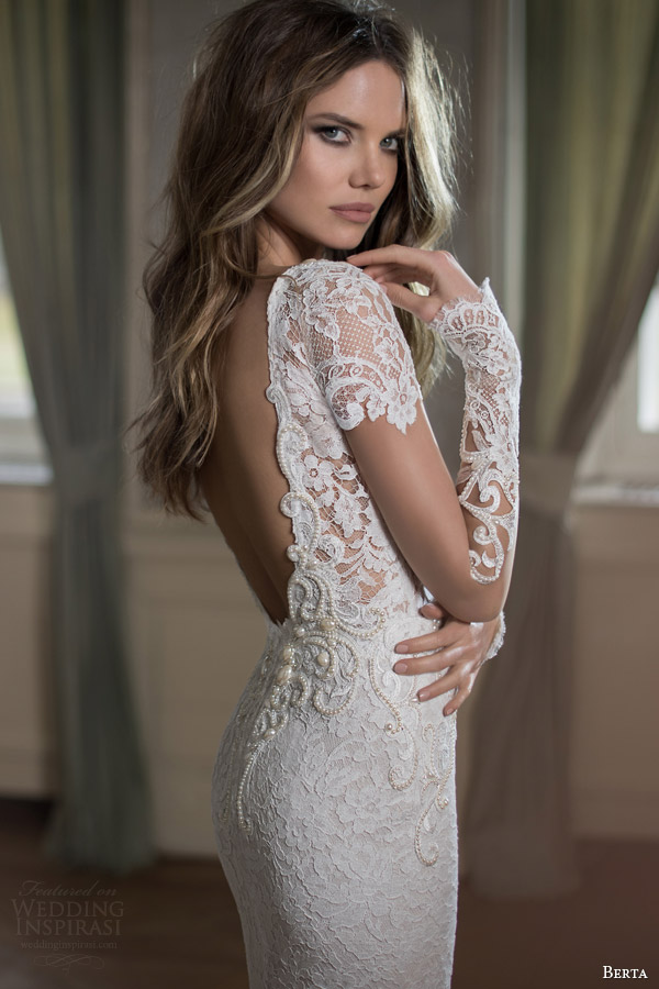 Berta bridal fall 2015 wedding dresses wedding inspirasi for Long sleeve casual wedding dresses