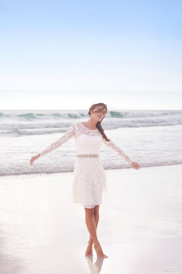 Bhldn Summer 2017 Cynthia Long Sleeve Lace Short Wedding Dress Encore Watters