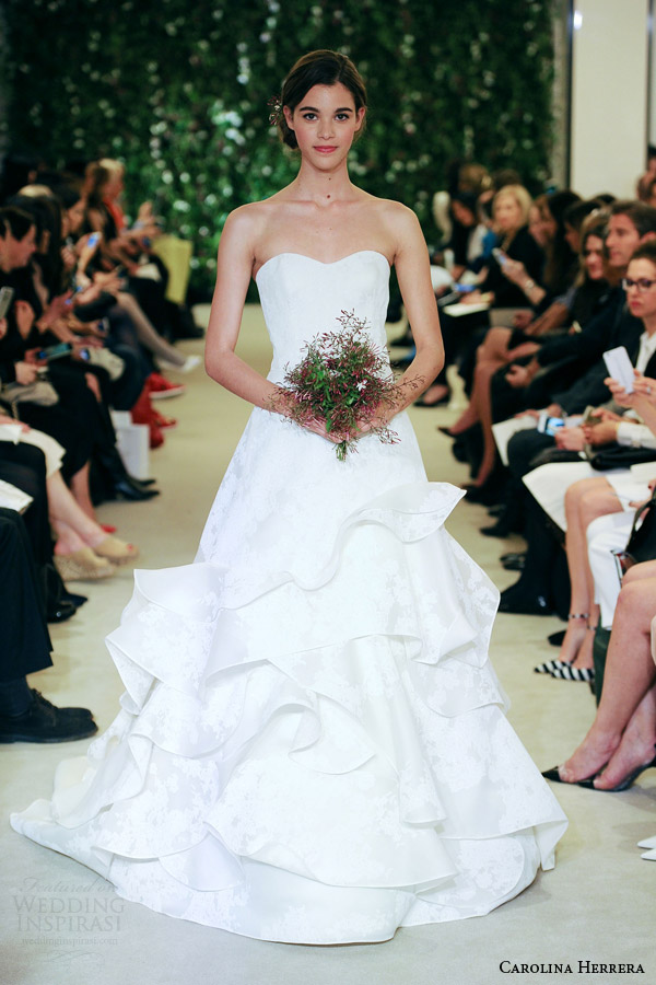 Carolina Herrera Bridal Spring 2016 Wedding Dresses - BridalPulse