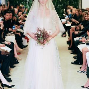 carolina herrrera bridal spring 2016 joie wedding dress colorful embroidery