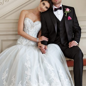 david tutera mon cheri spring 2015 style 115228 ocean strapless drop waist ball gown wedding dress sweetheart neckline ivory seamist color